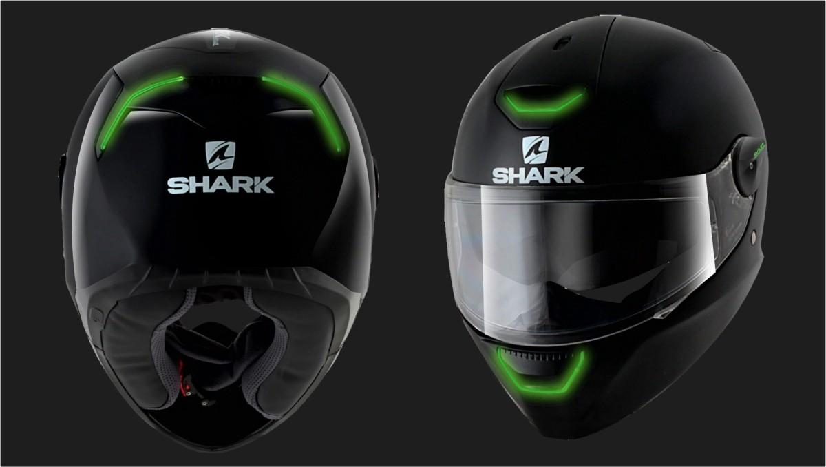 shark skwal matador black red with led lights helmet excite motorsports. Black Bedroom Furniture Sets. Home Design Ideas