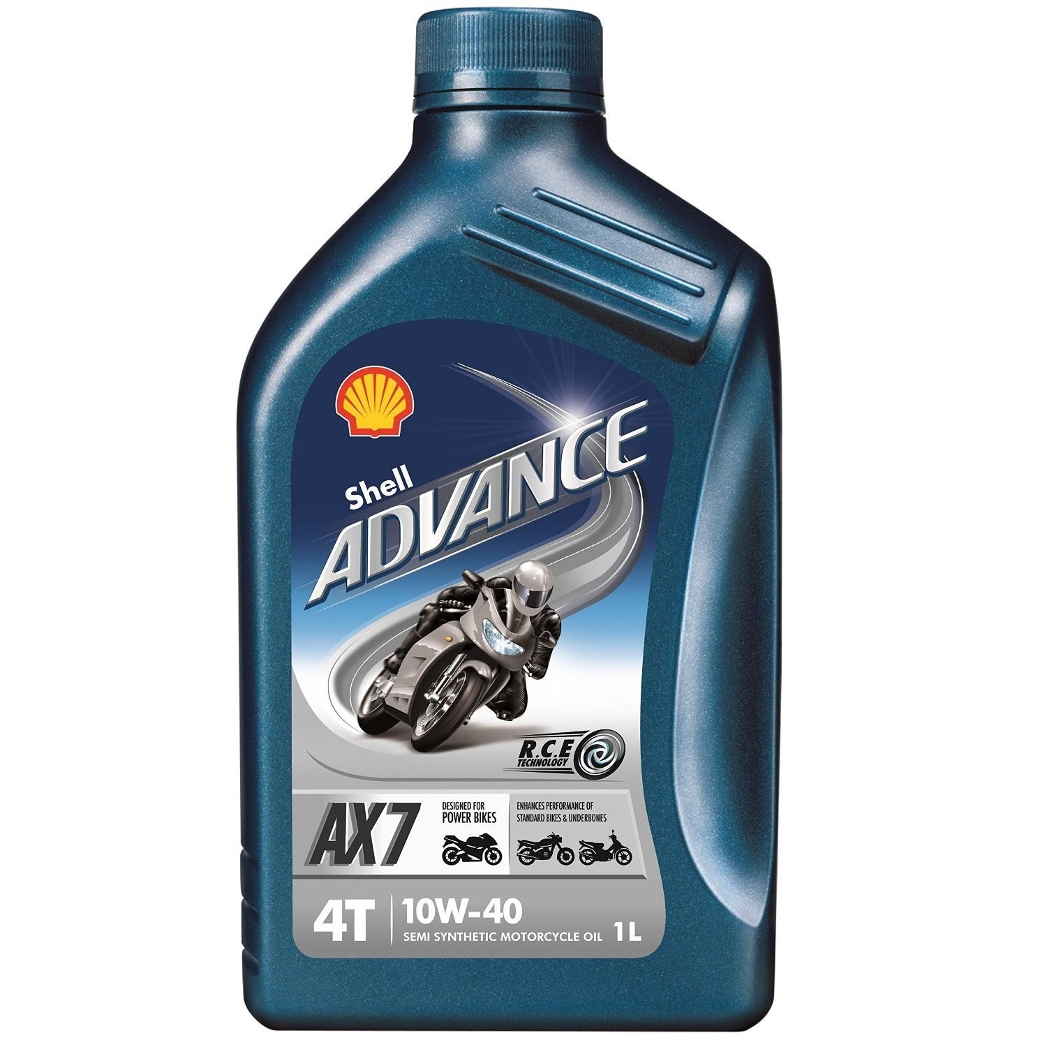 Shell 1l advance ax7 10w40 semi synthetic 4 stroke oil for Shell synthetic motor oil