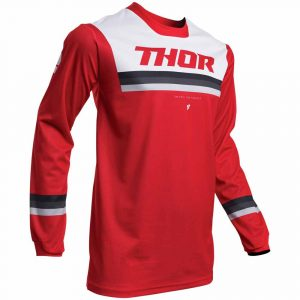 THOR JERSEY S20 PULSE PINNER RED/WHITE